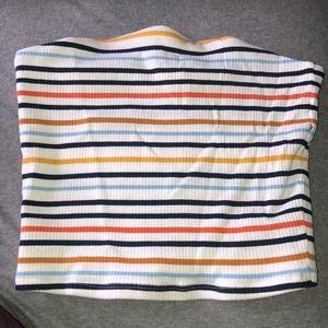 white striped tube top size M